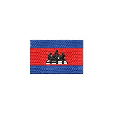 Aufnäher Flagge Cambodscha midi