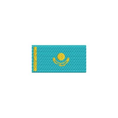Aufnäher Flagge Kazachstan midi
