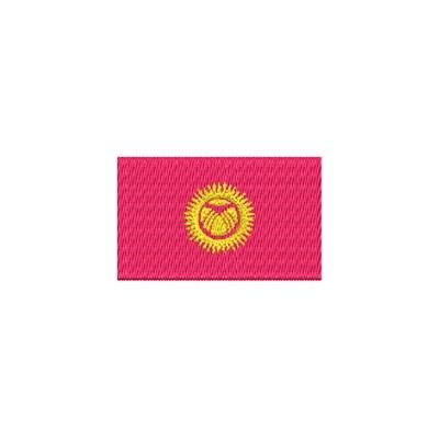 Aufnäher Flagge Kirigisitan midi