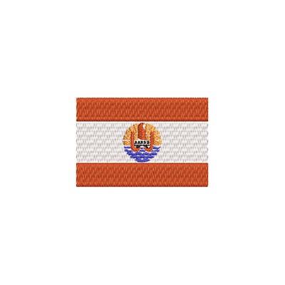 Aufnäher Flagge Franz. Polynesien midi