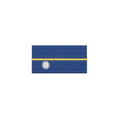Aufnäher Flagge Nauru midi