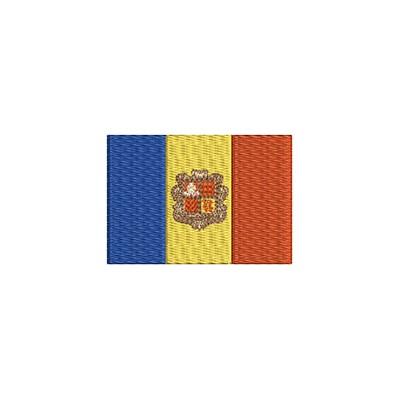 Aufnäher Flagge Andorra midi