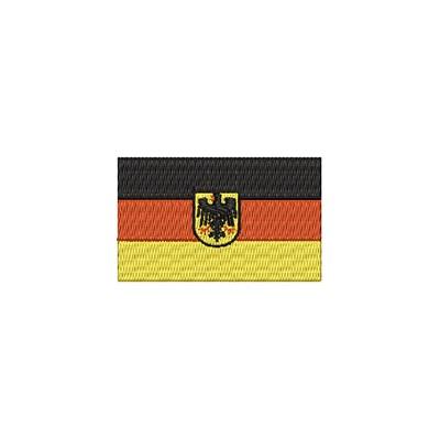 Aufnäher Flagge Deutschland mit Adler midi