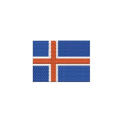 Aufnäher Flagge Island midi
