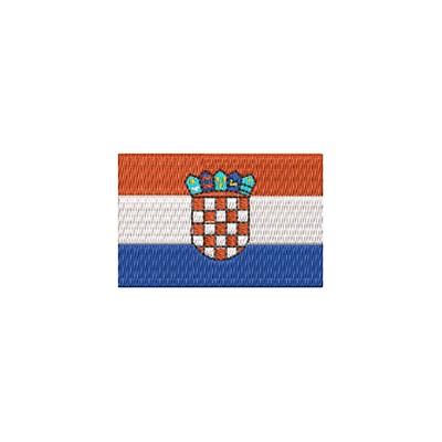 Aufnäher Flagge Kroatien midi