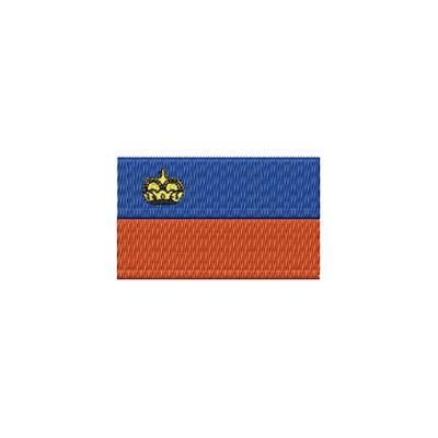 Aufnäher Flagge Liechtenstein midi