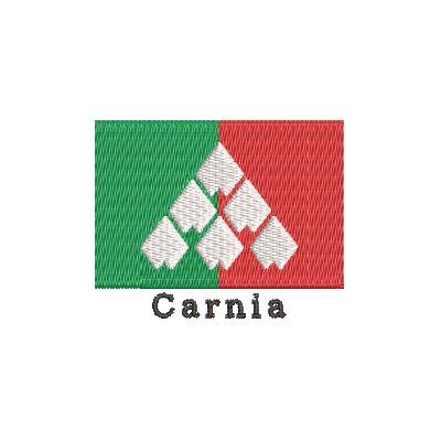 Flagge Carnia mit Name