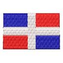 Flagge Dominica Republic mini