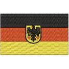 Flagge DE mit Wappen