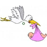 Storch bringt Baby
