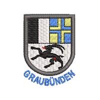 Wappen Graubünden mit Name