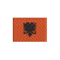 Flagge Albanien mini
