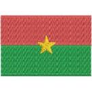 Flagge Burkina Faso midi