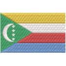 Flagge Comoros Inseln midi