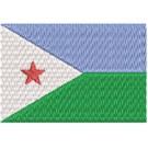 Flagge Djibuti midi