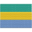 Flagge Gabon midi