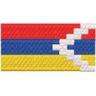 Flagge Artsakh midi