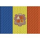 Flagge Andorra midi