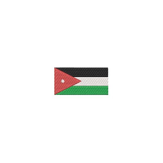 Flagge Jordanien midi