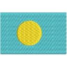 Flagge Palau midi