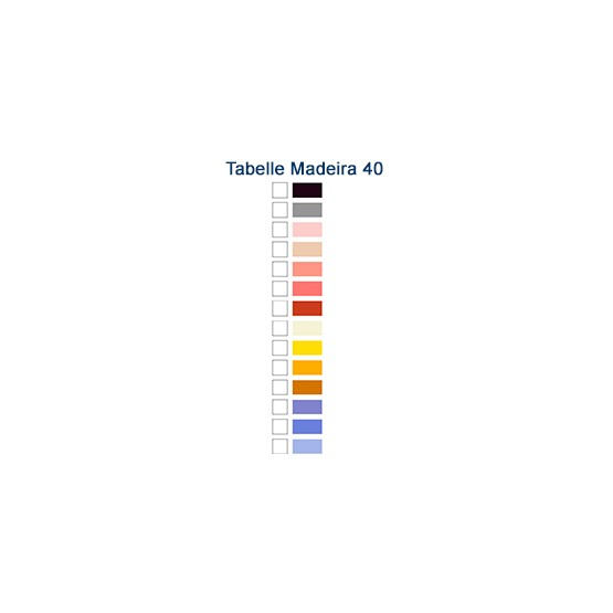 Faden Tabelle Stickfaden Madeira 40